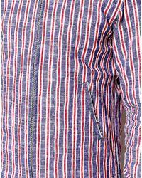 YMC Blue Stripe Zip Bomber for men