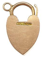 Annina Vogel | Metallic Vintage Rose Gold Heart Lock Charm | Lyst