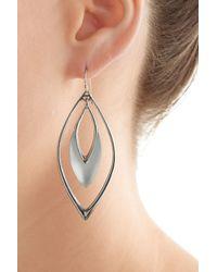 Alexis Bittar | Metallic Lucite Earrings - Silver | Lyst
