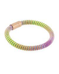 Carolina Bucci   Purple Neon Twister Bracelet Rose Gold   Lyst
