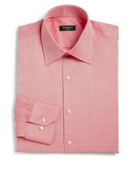 Saks Fifth Avenue | Pink Classic-fit Honeycomb Dress Shirt for Men | Lyst
