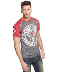 Affliction Red American Fighter By Haskell T-Shirt for men