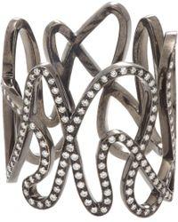 Repossi - Metallic Diamond & Black Gold White Noise Ring - Lyst