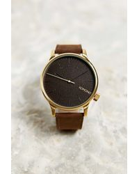 Komono | Metallic Winston Gold Wood Watch | Lyst