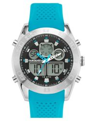 Quiksilver Blue 'the Fifty50' Silicone Strap Watch for men