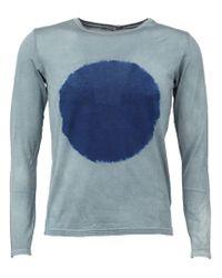 Suzusan Blue Tie-dye Circle Sweatshirt for men