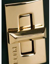 Emilio Pucci Metallic Twist Lock Cuff