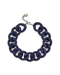 Pono | Blue 'ana Moon Beam' Choker Necklace - Sapphire | Lyst