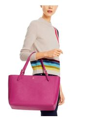 Tory Burch - Gray York Leather Tote - Lyst