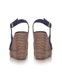 Castaner | Blue Bella 8 High Wedge Heel Peep Toe Shoes | Lyst