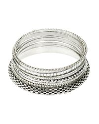 Catherine Stein - Metallic Bangle Bracelet Set - Lyst