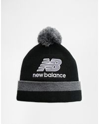 Lyst - New Balance Puck Bobble Hat in Black for Men 833ff55ce7c