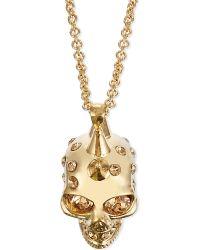 Alexander McQueen | Metallic Small Punk Skull Pendant Necklace | Lyst