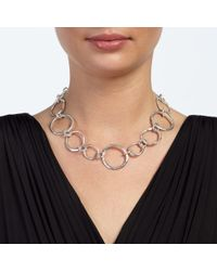 John Lewis | Metallic Mixed Circles Necklace | Lyst