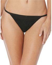 Jessica Simpson Black Young And Beautiful Tanga Panties