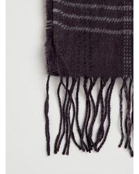 TOPMAN | Purple Checked Scarf for Men | Lyst