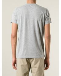 Aspesi | Gray Sketched Faces Print T-Shirt for Men | Lyst
