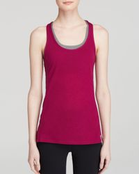 Under Armour - Purple Tank - Fly By Stretch Mesh - Lyst