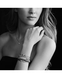 David Yurman | White Petite Pavé Id Bracelet With Gray Diamonds | Lyst
