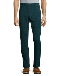 Original Penguin | Green Plaid Perfect Chino Pants for Men | Lyst