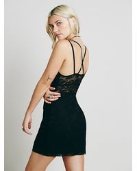 Free People - Black Lacey Day Bodycon - Lyst