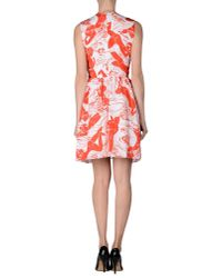 Carven - Orange Short Dress - Lyst