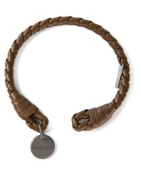 Bottega Veneta Brown Woven Rigid Bracelet for men