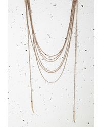 Forever 21 - Metallic Tooth Pendant Layered Necklace - Lyst