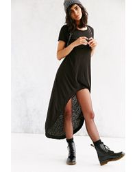Truly Madly Deeply Black Graphic High/low T-shirt Dress