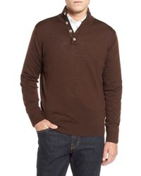 Thomas Dean   Brown Merino Wool Sweater for Men   Lyst