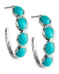 Ippolita | Blue Four-stone Hoop Earrings | Lyst