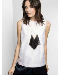 BaubleBar | Black Long Leather Tassel Bib | Lyst