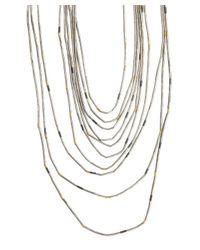 Gurhan | Metallic Silver Beaded 'horizon' Layered Necklace | Lyst