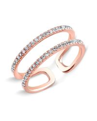 Anne Sisteron | Pink 14kt Rose Gold Diamond Knuckle Ring | Lyst