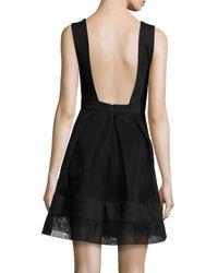 Alexis Black Rafaelo Sleeveless A-line Mini Dress