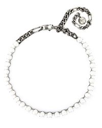 Lanvin | White Faux Pearl And Chain Necklace | Lyst