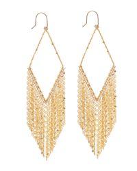 Lana Jewelry | Metallic 14K Diamond-Shaped Fringe Hoop Earrings | Lyst