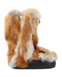 Chloé - Brown Fox Fur Boots - Lyst
