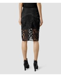 AllSaints Black Iree Skirt