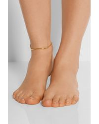 Maria Black - Metallic Love Bite Gold-plated Anklet - Lyst