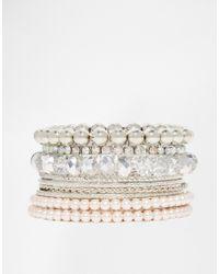 Lipsy | Metallic Sparkle Bangle Pack | Lyst