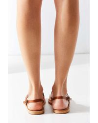 Urban Outfitters - Black Penny Leather Slingback Sandal - Lyst