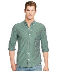 Polo Ralph Lauren | Green Striped Knit Dress Shirt for Men | Lyst