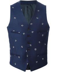 Neil Barrett - Blue 'pop Art Star' Waistcoat for Men - Lyst