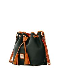 Dooney & Bourke Black Kendall Leather Crossbody Bucket Bag