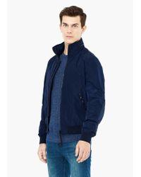 Mango - Blue Concealed Hood Jacket for Men - Lyst