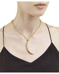 Arme De L'Amour | Metallic Linked Horn Necklace | Lyst