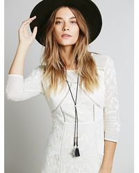 Free People - Metallic Womens Charm And Tassel Bolo - Lyst