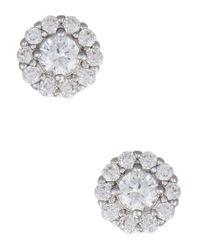 Nadri | Metallic Crystal And Cubic Zirconia Stud Earrings | Lyst