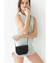 Erin Templeton Black S + N Round Mini Messenger Bag